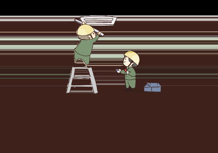 電気、給排水、消防設備の点検・工事